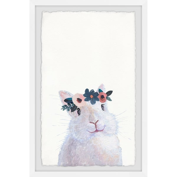 Marmont Hill - Handmade Floral Crowned Rabbit Framed Print