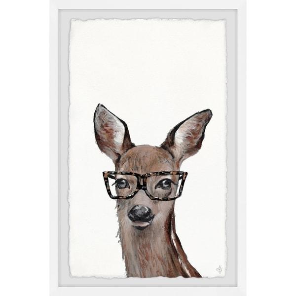 Marmont Hill - Handmade Brown Hippie Deer Framed Print