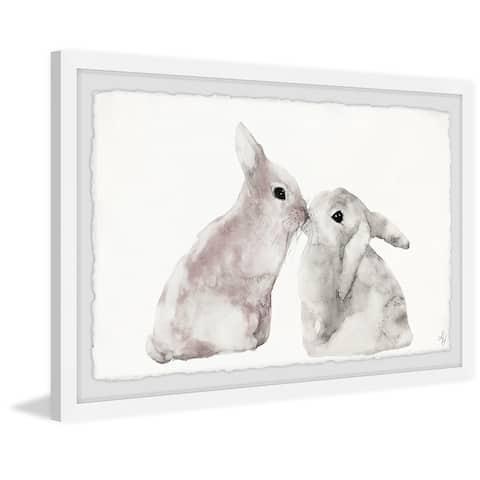 Marmont Hill - Handmade Sweet Bunnies Framed Print