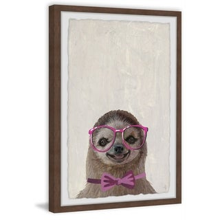 Marmont Hill - Handmade Sloth with a Bow III Framed Print