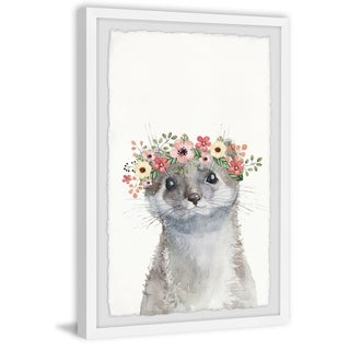 Marmont Hill - Handmade Floral Crowned Otter Framed Print