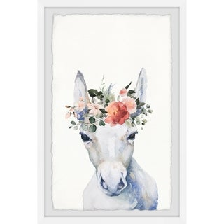 Marmont Hill - Handmade Floral Crowned Horse Framed Print