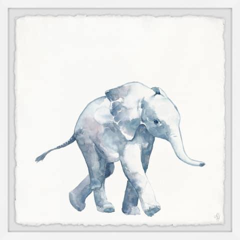 Marmont Hill - Handmade Quiet Elephant Framed Print