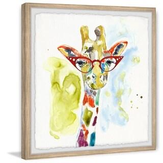 Marmont Hill - Handmade Rainbow Giraffe Framed Print