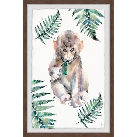Marmont Hill - Handmade Monkey Fern Framed Print