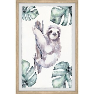 Marmont Hill - Handmade Palms and Sloth Framed Print
