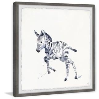 Marmont Hill - Handmade Running Zebra Framed Print