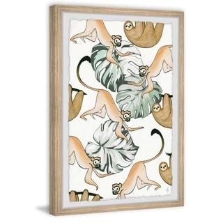 Marmont Hill - Handmade Sloth and Monkeys Framed Print