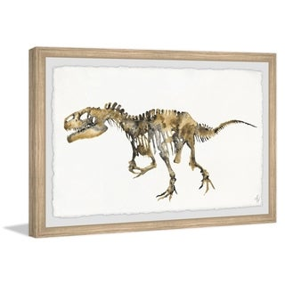 Marmont Hill - Handmade Tyrant Lizard Skeleton Framed Print