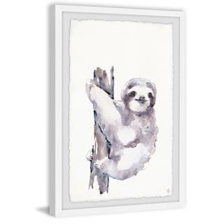 Marmont Hill - Handmade Happy Sloth Framed Print