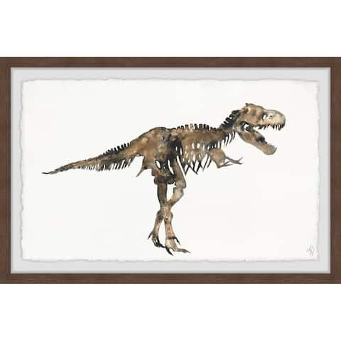 Marmont Hill - Handmade T-Rex Skeleton Framed Print