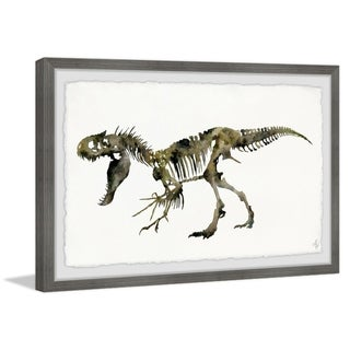 Marmont Hill - Handmade Angry T-Rex Skeleton Framed Print