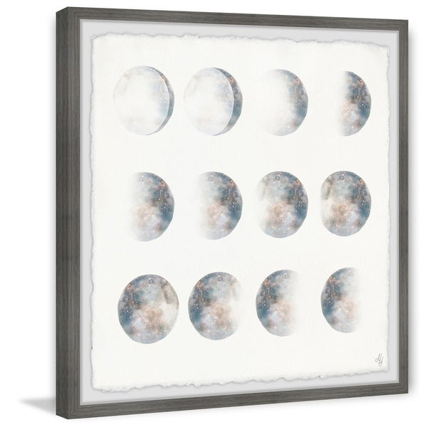 Marmont Hill - Handmade Moon Phase Framed Print. Opens flyout.