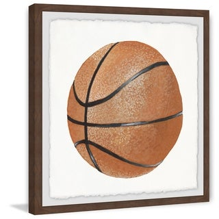 Marmont Hill - Handmade Lets Play Basketball Framed Print