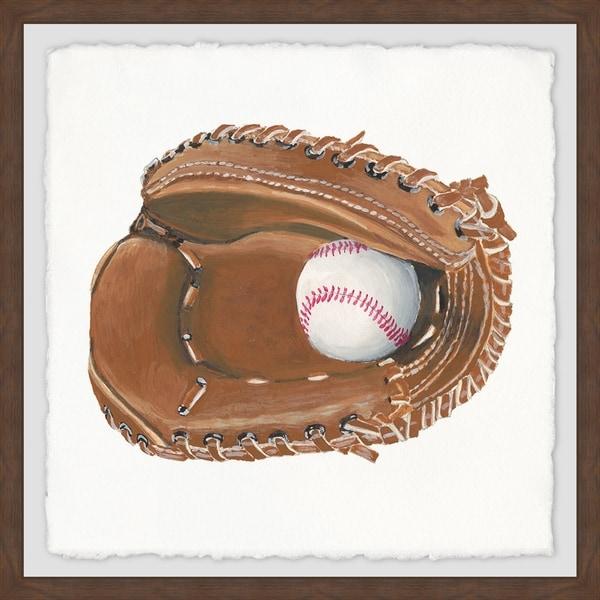 Marmont Hill - Handmade Baseball Gloves Framed Print