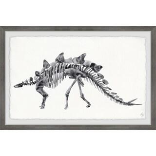 Marmont Hill - Handmade Big Stegosaurus Skeleton Framed Print