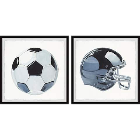 Marmont Hill - Handmade Ball Games Diptych - Multi-color