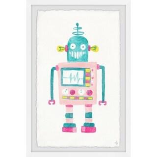 Marmont Hill - Handmade Girly Robot Framed Print