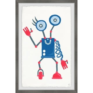 Marmont Hill - Handmade Quirky Robot Framed Print
