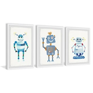 Marmont Hill - Handmade Happy Robot Triptych