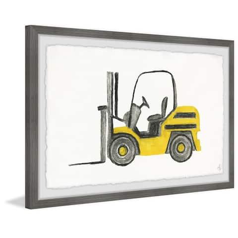 Marmont Hill - Handmade Forklift Truck Framed Print