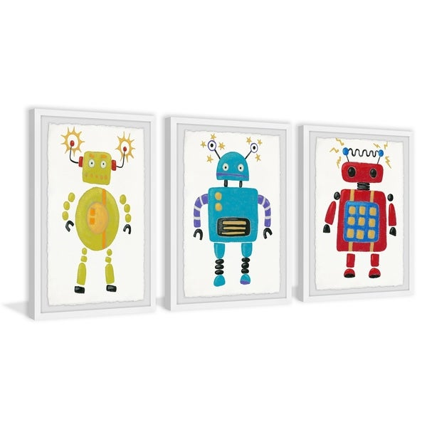Marmont Hill - Handmade Electric Robots Triptych