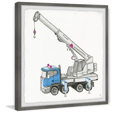 Marmont Hill - Handmade Tow Truck Framed Print