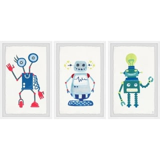 Marmont Hill - Handmade Cool Robots Triptych