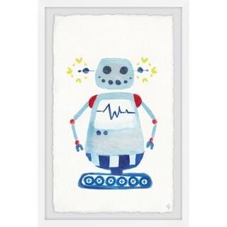 Marmont Hill - Handmade I Am a Blue Robot Framed Print