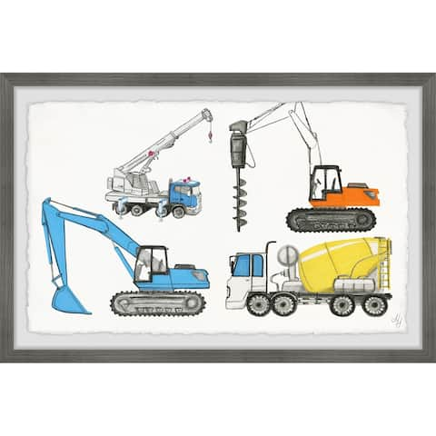 Marmont Hill - Handmade Powerful Trucks Framed Print
