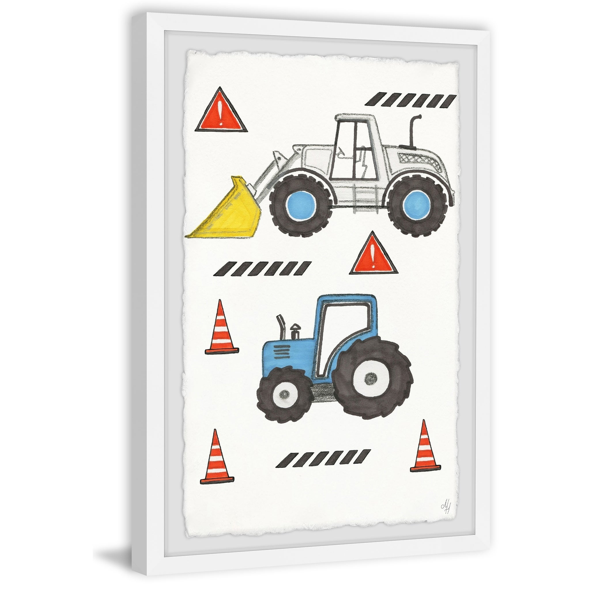 Shop Marmont Hill Handmade Little Monster Trucks Framed Print On Sale Free Shipping Today Overstock 27497518