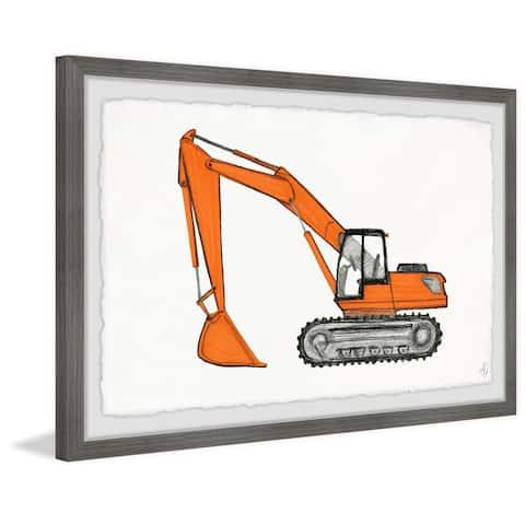 Marmont Hill - Handmade Excavator Truck Framed Print