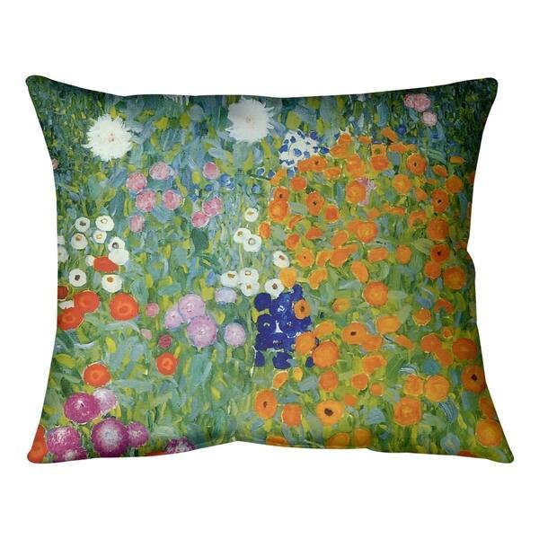 Gustav Klimt Blumengarten Pillow Spun Polyester Overstock 27500045