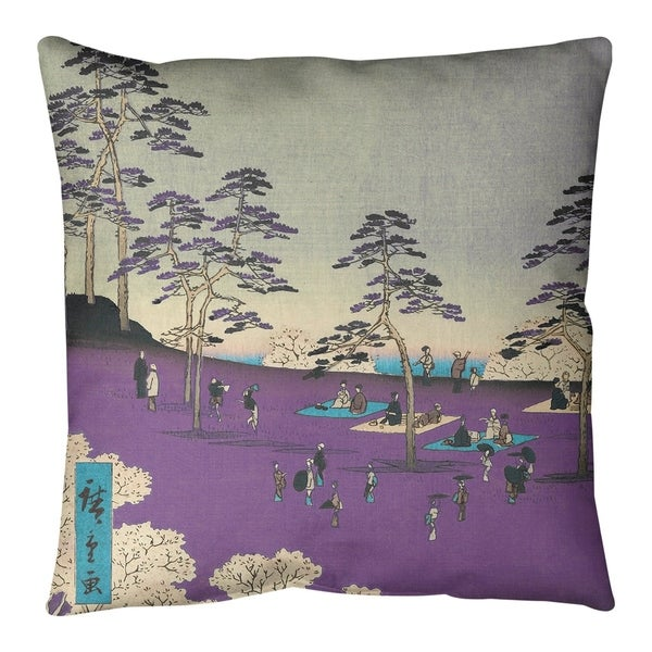 Utagawa Hiroshige View From A Hill In Purple Floor Pillow Standard Free Shipping Today 27506298