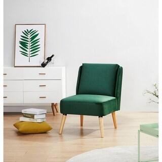 Shop Nunzio Mid Century Modern Wood Accent Chair On Sale
