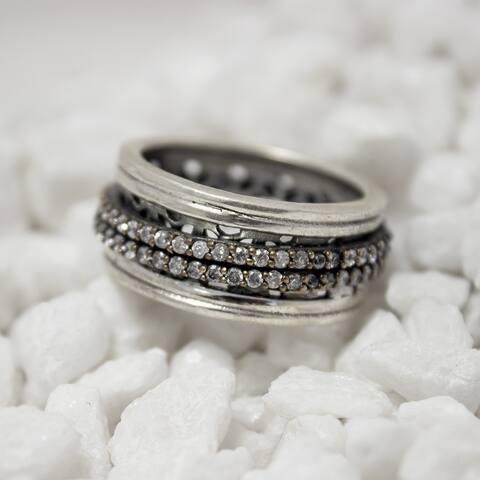 Meditation Spinner Vintage Silver Ring