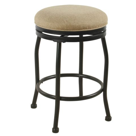 """HomePop 24"""" Swivel Counter Stool - 24 inches - 24 inches"""