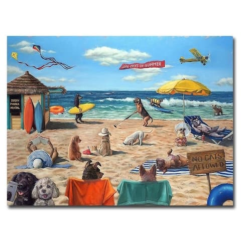 Dog Beach by Lucia Heffernan Gallery Wrapped Canvas Giclee Art (18 in x 24 in, Ready to Hang)