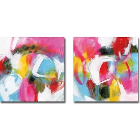 On My Wave & Another Breath by Julie Hawkins 2-piece Gallery Wrapped Canvas Giclee Set (Ready to Hang)