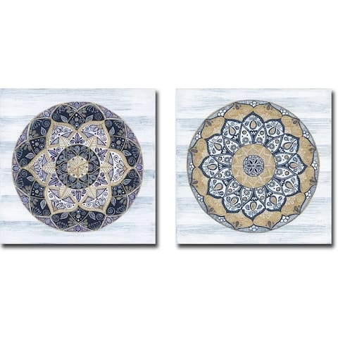 Coastal Mandala I & II by Yvette St Amant 2-piece Gallery Wrapped Canvas Giclee Set (Ready to Hang)
