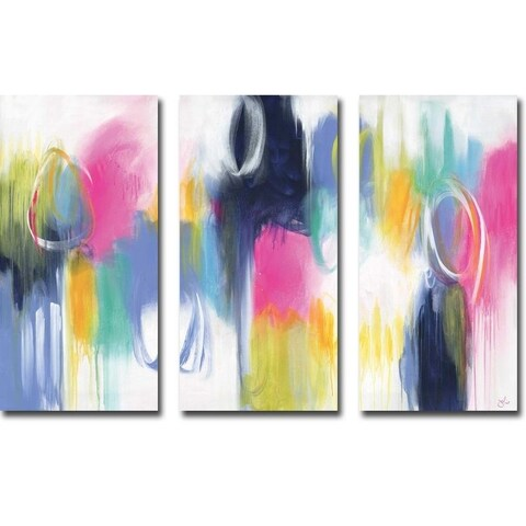 If Only For the Night by Julie Hawkins 3-piece Gallery Wrapped Canvas Giclee Art Set (Ready to Hang)