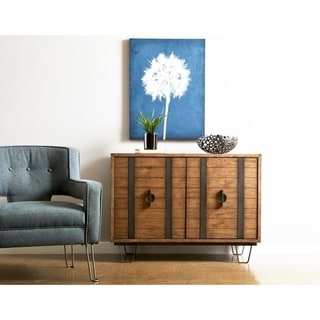 Link to Modern Industrial Light Oak Finish Two Door Accent Console Chest Similar Items in Bedroom Furniture