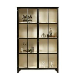 Matte Black Iron Metal Finish Industrial Display Cabinet