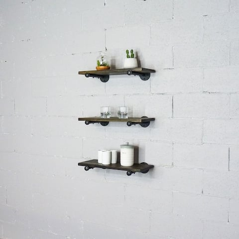 Carbon Loft Kone 3-piece Floating Shelf Set