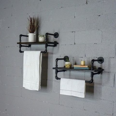 Carbon Loft Pepin Wall Shelf Rack (Set of 2)