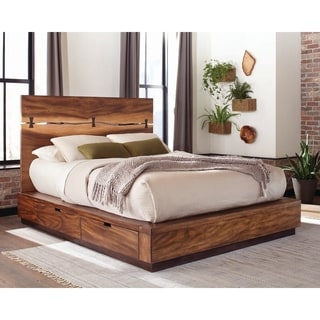 shop delton rustic weathered light oak bookcase bed with usb by foa rh overstock com