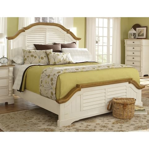 Storybook Brown and Buttermilk Wood Bed