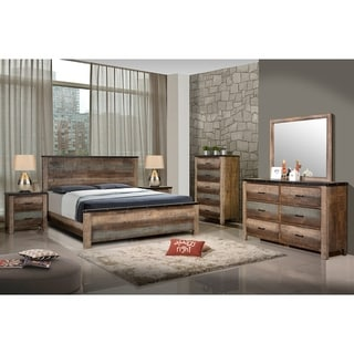 Portsmouth Rustic Antique Multi-color Wood Bed