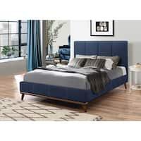 Alden Blue Upholstered Bed