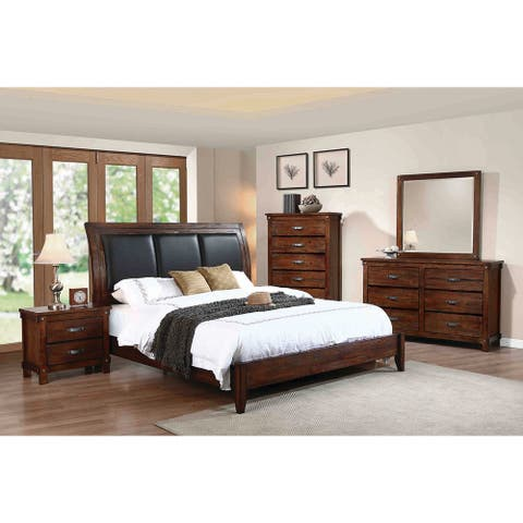 Beaumont Rustic Oak Panel Bed